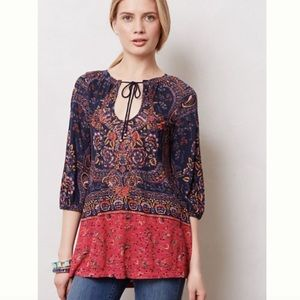 Anthropologie Meadow Rue Paisley Tunic Size Small